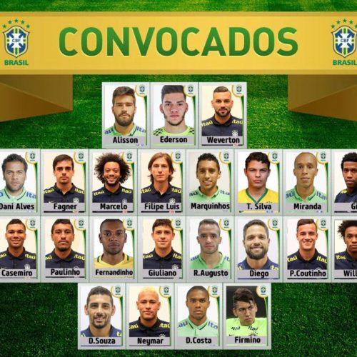 Peserta Timnas Brazil Piala Dunia 2018