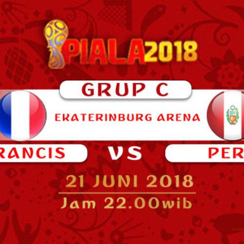 Prediksi Piala Dunia Rusia Prancis vs Peru 21 Juni 2018