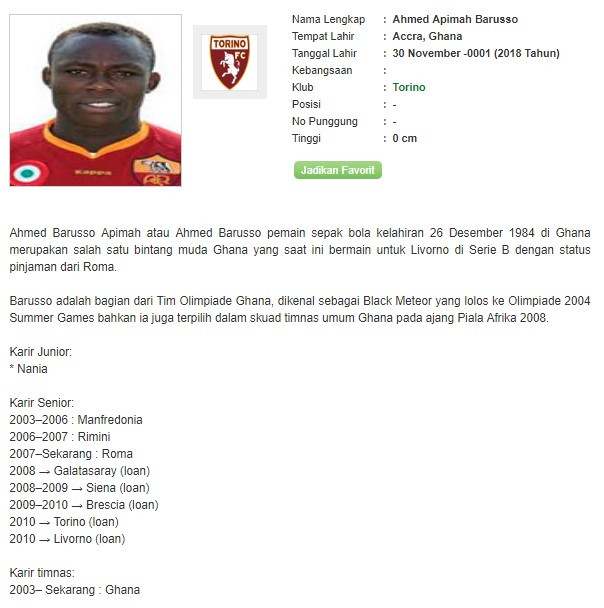 Profil Ahmed Apimah Barusso Bandar Bola Piala Dunia 2018