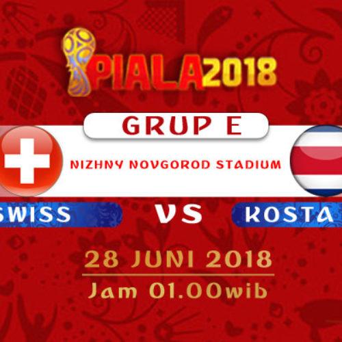 Prediksi Piala Dunia Swiss vs Kosta Rika 28 Juni 2018